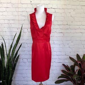 NWT Jessica Howard Red Ruffled Dress